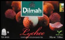 Dilmah Tee-Lychee flavoured black Ceylon Tea 20 bustina del tè