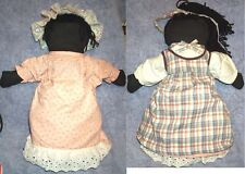 Hand Made Black Topsy-Turvy Cloth DOLL,2 Different Tops & Wonderful Dresses, Rag