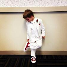 White Child Dinner Kid's Dinner Party Suit Tailored Page Boy Wedding Tuxedos