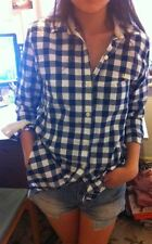 £59 ONCE WORN JACK WILLS BLUE WHITE CHECKED TARTAN SHIRT BLOUSE TOP 10 6 38