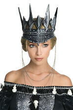 Evil Queen Ravenna Crown Costume Snow White & The Huntsman Gothic Black King