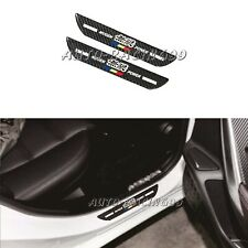 2Pcs Mugen Carbon Fiber Car Rear Door Welcome Plate Sill Scuff Cover Sticker