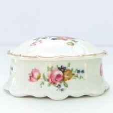 Vintage Dalyn Fine Bone China Floral Roses Trinket Pot