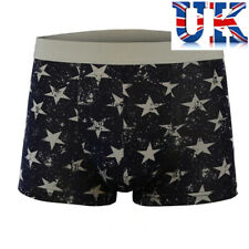 "Mens Navy Boxers With Grey Stars To Fit 30""-38"" **UK Seller**"