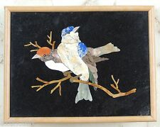 Pietra Dura Bird Plaque Marble Inlay Art of Royal Court Wall Decor Painting Gift