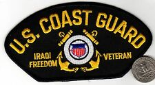 US COAST GUARD IRAQ FREEDOM VETERAN Hat Cap PATCH Desert Storm Persian Gulf War