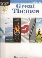 Violine Noten - GREAT THEMES für VIOLINE - 15 THEMES WITH CD ACCOMPANIMENT