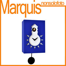"Orologio a cucù FOSFORESCENTE art.116 ""Nigt & Day"" blu chiaro 5012 Pirondini"