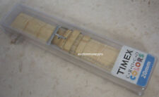 New Authentic Timex Bamboo Crocodile Grain Fits 20mm Watch Band Watchband Strap