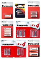 Panasonic Battery Zinc Carbon Alkaline Batteries AA AAA 9V LR1 CR2 C D