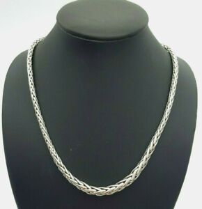 Ladies Necklace 18ct (750, 18K) White Gold Snake Chain Necklace