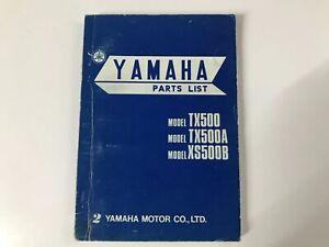 Parts List Yamaha XS500-TX500 371-28198-06
