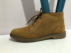 TIMBERLAND SIZE 7  WOMENS LADIES BROWN TAN ANKLE GENUINE LEATHER BOOTS SHOES