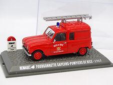 UH Presse 1/43 - Renault 4 4L Fourgonnette Pompiers de Nice