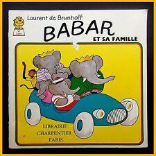 BABAR ET SA FAMILLE Laurent de Brunhoff 1976