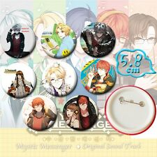 Anime Mystic Messenger Gym Badges Set of 8 PVC Pins Cosplay Costume Collection