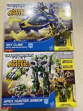 Hasbro Transformers Sky Claw With Smokescreen & Apex Hunter Armor Breakdown New!