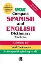 Vox Compact Spanish and English Dictionary by Vox Staff (2007, Hardcover)
