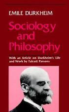 Sociology and Philosophy by Émile Durkheim (1974, Paperback)
