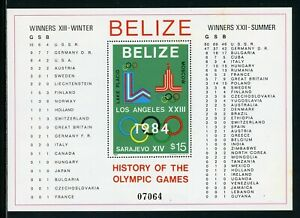 Belize Scott #562 MNH S/S History of the Olympic Games CV$40+