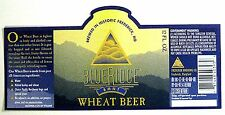Frederick Brewing Co BLUE RIDGE BMNT WHEAT BEER beer label MD 12 oz