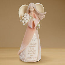 Enesco Foundations Collectible Mother's Love Angel With Tulips Figurine 4014322