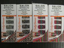 4 SALLY HANSEN SALON EFFECTS LIMITED EDITION NAIL STICKERS - NEW - EL 2335