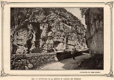 IMAGE VERS 1900 PRINT 73 LES ECHELLES OUVERTURE DE LA GROTTE