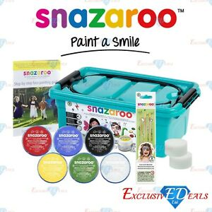 Snazaroo Mini Face Painting Starter Kit - Professional Make Up Set - Fancy Dress
