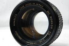**Not ship to USA** Minolta MC ROKKOR-PG 50mm F1.4 Lens  SN3307347