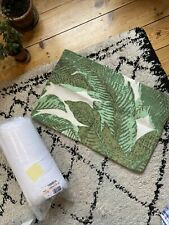La Redoute AM PM Jute Weave Cushion Cover &Insert 60cmX40cm Cream Green Palm NEW
