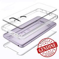 For LG V30 / V30 Plus Case Cover 3D Tempered Glass Shockproof Clear Back Hybrid