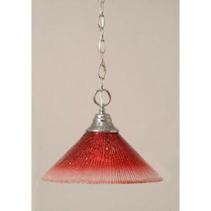 Toltec Lighting Chain Hung Pendant, 12' Raspberry Crystal Glass - 10-CH-706
