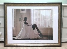 "VERY LARGE!! 35""x 27"" In Thoughts of You by Jack Vettriano Deluxe Framed Print"