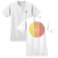 Spitfire Wheels Tee Classic Swirl White Red Yellow Mens Skateboard T-Shirt