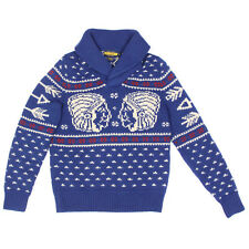 Vintage Rugby RALPH LAUREN DOUBLE INDIAN HEAD Native American Knit Sweater - S