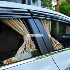 50cm Beige Adjustable VIP Car Window Interlock Curtain UV Sunshade Visor X2