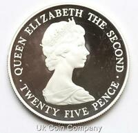 Guernsey 1978 Silver Proof 25p Twenty Five Pence Crown Coin