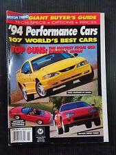 Motor Trend Magazine 1994 Performance Cars  World's Best Cars - Mustang - Camaro