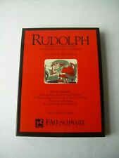 RUDOLPH THE RED NOSED REINDEER Limited Boxed Edition Set NEW FAO Schwartz