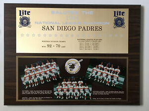 1984 Lite Beer Salutes The 1984 NL Champions San Diego Padres Plaque Tony Gwynn