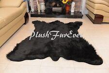 """58"""" x 72"""" A44 CHUBBY NEW BEAR New Designs Black Bearskin Shaggy Fur Area Rug"""