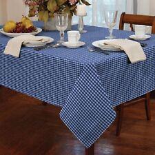 petit carreau bleu blanc rond 152cm 152cm Nappe de table