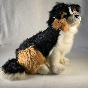 "Chrisha Playful Plush Realistic Dog 18"" 1988 Vintage Australian Shepherd Collie"