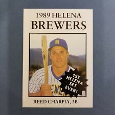 1989 Sports Pro HELENA Brewers #16 REED CHARPIA Bennettesville SOUTH CAROLINA
