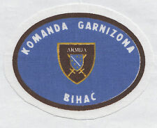 BOSNIA ARMY -   COMMAND OF GARISSON - BIHAC, scarce war time sleeve patch