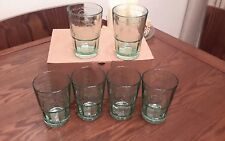 6 x Bacardi Mojito Rum Cocktail  Green Tinted Embossed Glasses New