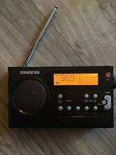 Sangean PR-D7 BK AM/FM Digital Portable Radio - Black Tested Works No Charger