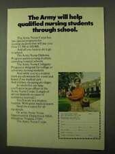 1971 U.S. Army Nurse Corps Ad - Help Through School