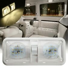 Double Dome Cargo Light 48LED 12V Ceiling Interior Camper RV Trailer Boat Marine